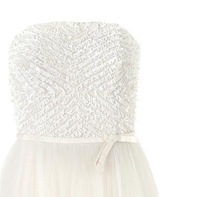 spangle detail ribbon dress white